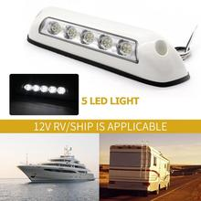 12 V 2.6 W 5 LED RV Tenda Portico Luce IP67 Impermeabile Marine Caravan Camper Rimorchio Esterno Lampada di Campeggio CAMPER camper Rimorchio La Nave