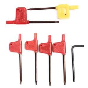 Image 4 - 7 pces dcmt ccmt carboneto de inserção + 7 pçs 12mm torno torneamento ferramenta titular chato barra chave para torno ferramenta de torneamento