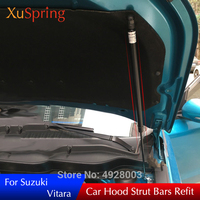 For Suzuki Vitara 2016 2017 2018 Car Front Engine Cover Support Hydraulic rod Lift Strut Spring Shock Bars Bracket Car styling