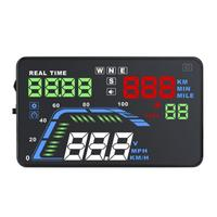 Q7 Car HUD Universal Portable Car HUD 5.5 Inch Head Up Display KM/H MPH Speedometer Warning Safety Car Electronics
