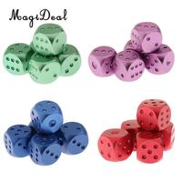 MagiDeal 20Pcs Aluminum Alloy Round Corner Metal Dices with Dots for D&D RPG MTG Board Game Casino Supplies