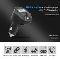 Bluetooth FM Transmitter Handsfree Car Kit DAB Radio MP3 Player USB Charger12 24V cigarette lighter direct power supply