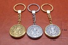 Rzeczga San Benedek medalha e chaveiro chaveiro de metal. Jóias Religiosas  de Jesus é entrega a5af538c59
