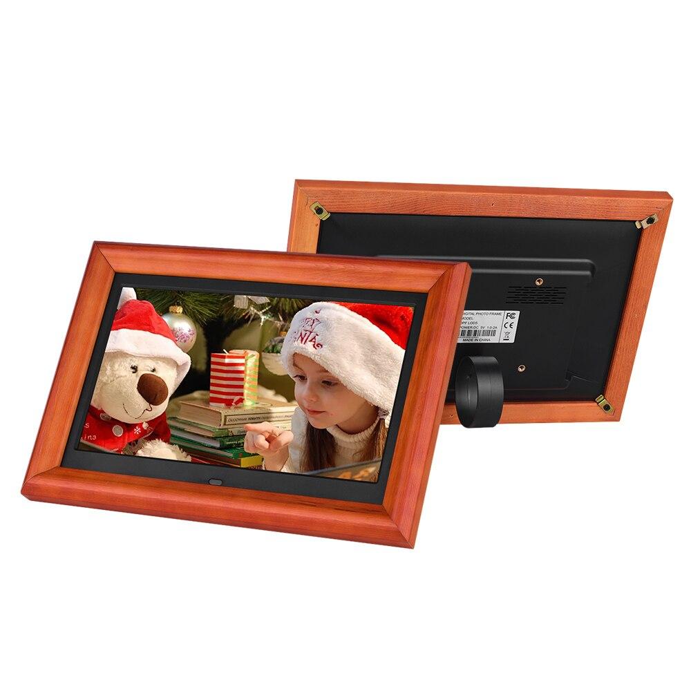 Andoer 10 Inch LED Digitale Foto Rahmen Desktop Album HD Holz Rim Unterstützt Musik/Video/Uhr/Kalender mit Fernbedienung-in Digitale Bilderrahmen aus Verbraucherelektronik bei AliExpress - 11.11_Doppel-11Tag der Singles 1
