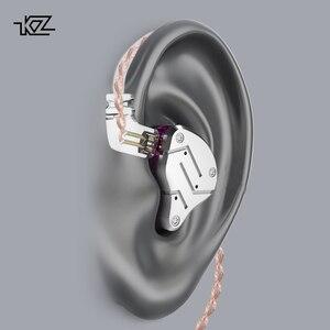 Image 5 - KZ ZSN Metal kulaklıklar hibrid teknolojisi kulak monitörü kulaklık spor gürültü iptal kulaklık 1BA + 1DD HIFI bas kulakiçi