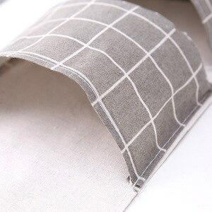Image 4 - Originality Cotton Waterproof Organizer Storage Bag 3 Layer Hanging Pocket Lattice Cloth Door Back Accept Vakuum Bag Clothes