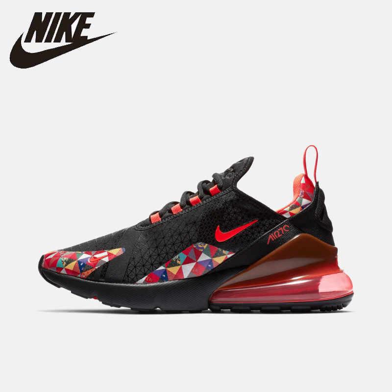Nike официальный Air Max 270 Мужская Беговая уличная спортивная обувь дышащая Новое поступление нескользящие спортивные кроссовки # BV6650