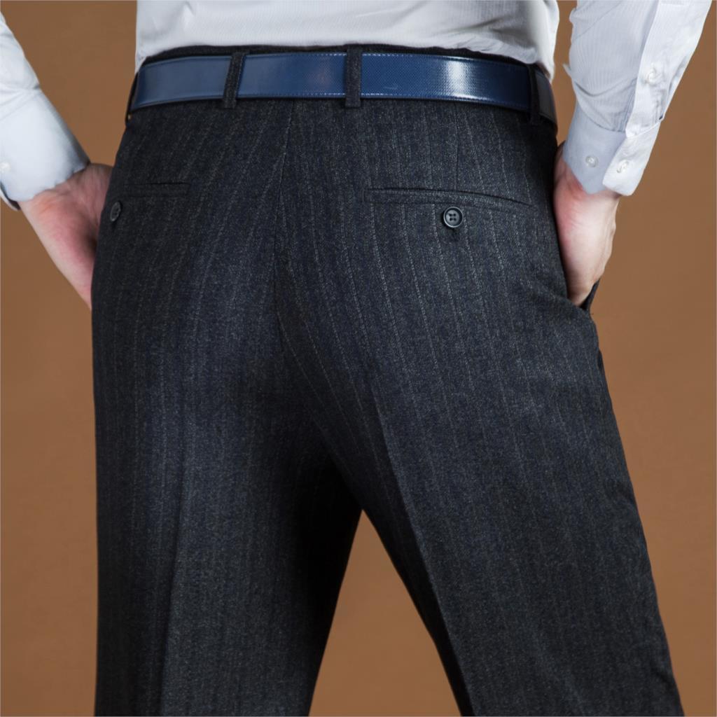 Schwarzen Anzug Hose Für Männer Lose Wolle Männer Anzug Hosen Klassische Gerade Formalen Mens Kleid Hosen Business Größe 42 44 2019 Neue Weder Zu Hart Noch Zu Weich