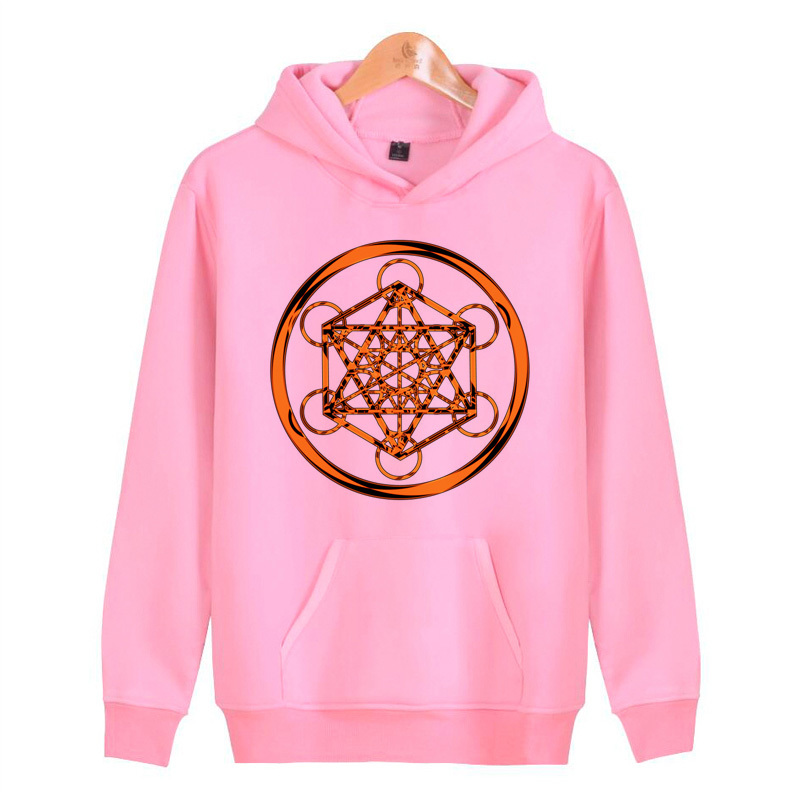 Metatron Cube 2019 New Brand Hoodie Long Sleeve Hoodies Sweatshirt Hoodie Mens Hooded Plus Size Warmer V3766