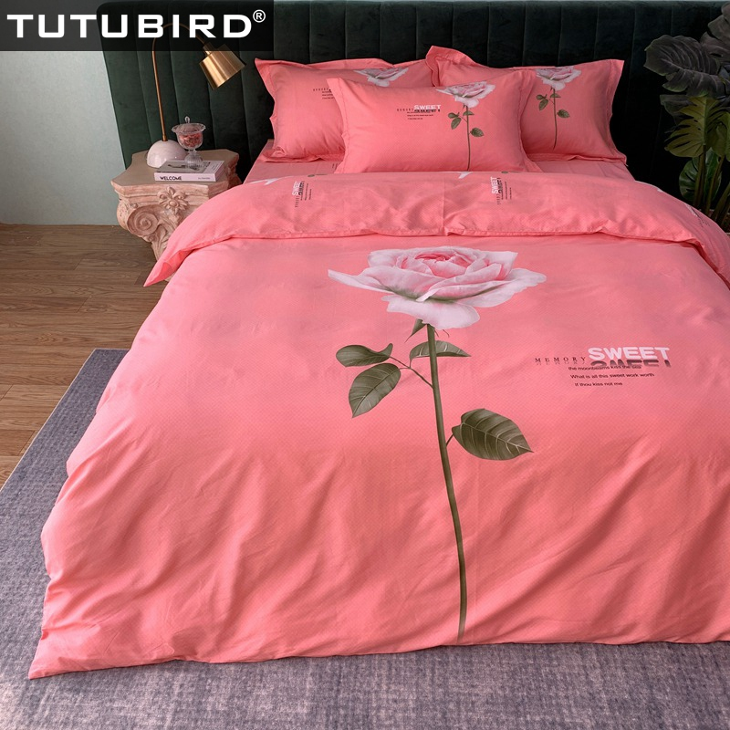 100% Cotton bedding set red rose bedspread girls lady princess duvet covers pastoral duvet bed linen sheet pillowcase 4pcs100% Cotton bedding set red rose bedspread girls lady princess duvet covers pastoral duvet bed linen sheet pillowcase 4pcs