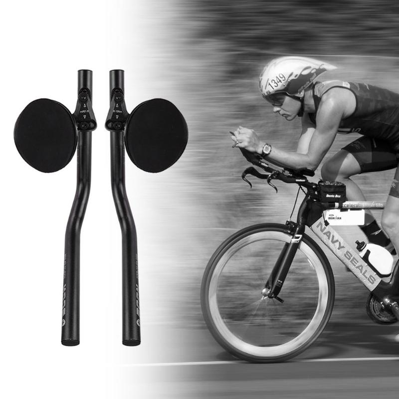 White UD Carbon Aero bars Road MTB Bike TT Rest Bar Handlebar aerobar 1pair