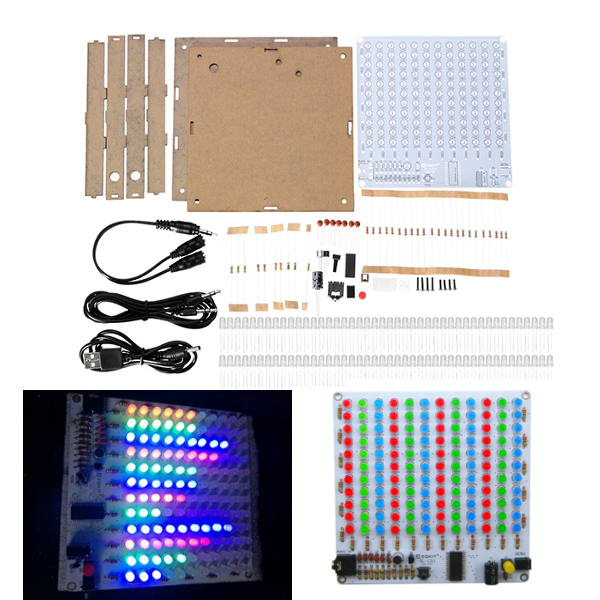 Accessories & Parts Leory New Arrival Diy 5v Electronic Led Spectrum Display Training Kit Voice Control Module Board