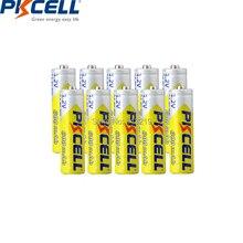 10 PCS PKCELL aa bateria 600 MAH 1.2 V 2A batteria baterias recarregáveis aa NI MH de recarga para lanterna brinquedos