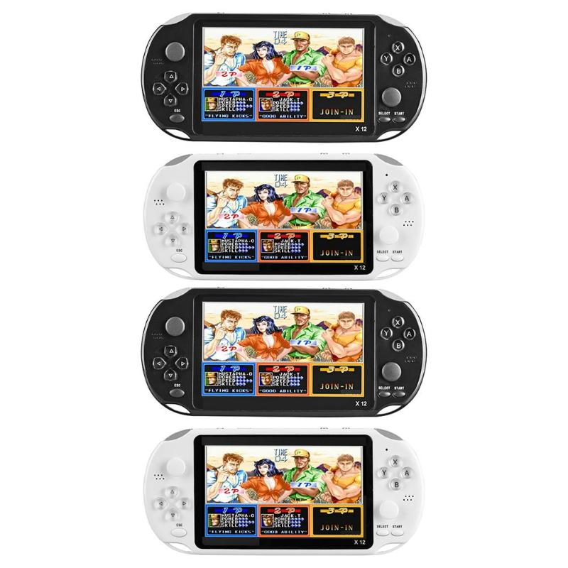X12 5.1 pouces jeux de poche Consoles de jeux vidéo avec Double Rocker intégré 2500 jeux prennent en charge la carte TF