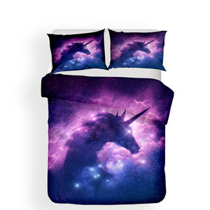 Image 2 - Bedding Set 3D Printed Duvet Cover Bed Set Unicorn Home Textiles for Adults Lifelike Bedclothes with Pillowcase #DJS18