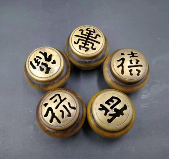 China pure brass mini copper incense burner Furnishing articles