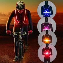 New Flashing Vest High Visibility Reflective LED Flash Bike Adjustable Running Cycling Safety Outdoor #2