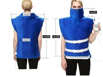 Original Point Beans Bags Electric Heating Warm Shoulder Moxa Vest High Collar Moxibustion Therapy Hot Clothes Back Pain Relief