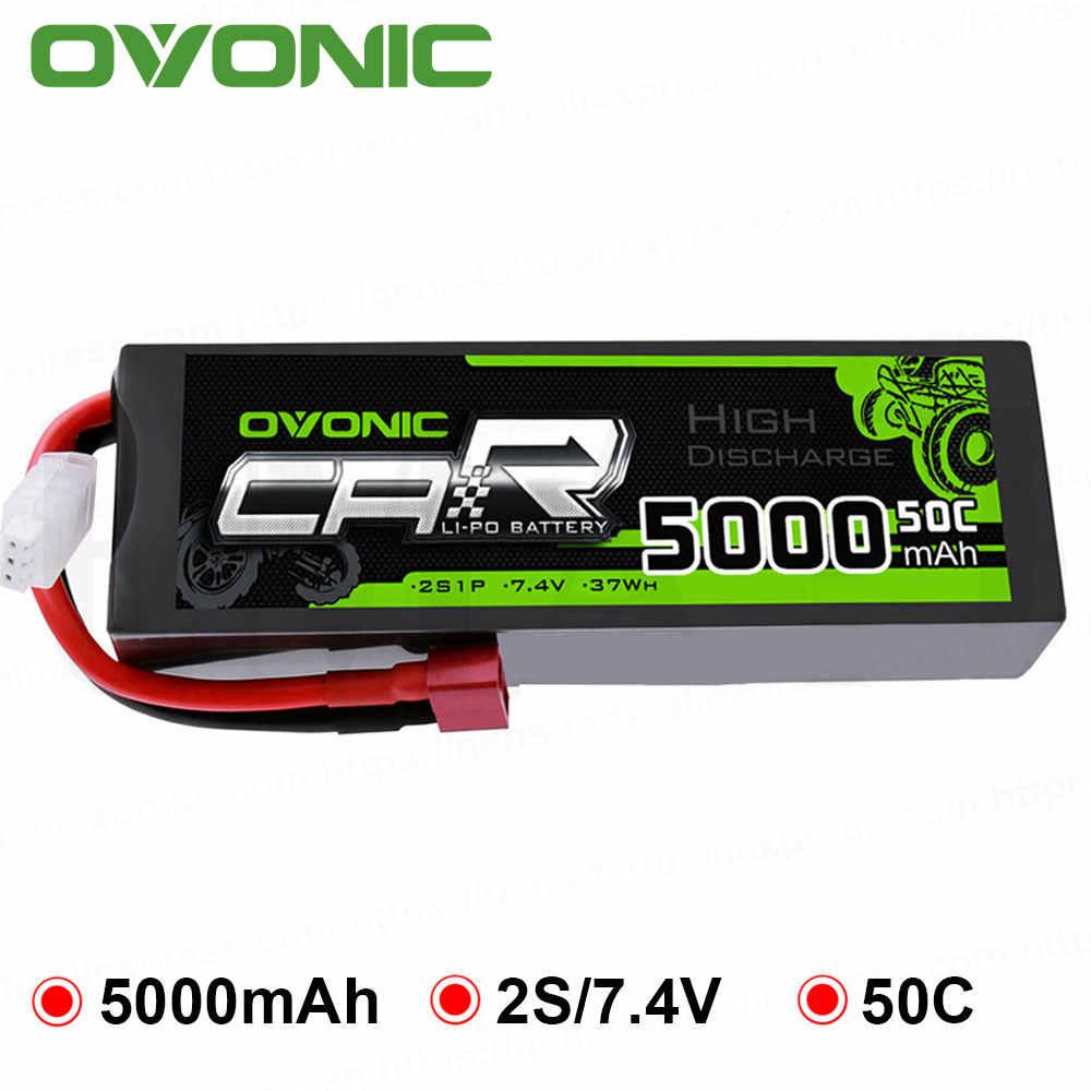 Ovoic 5000mAh LiPo 2S 50C батареи пакет T Deans вилка 7,4 V для ARRMA 1/8 1/10 RC автомобиль Emaxx Traxxas Slash HPI лодка Heli
