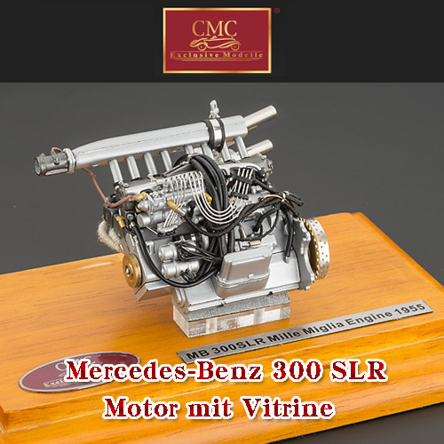 Stirling Engine Static Model CMC1:18 Benz Car 300SLR Engine Alloy Material Collection Gift Free Shipping