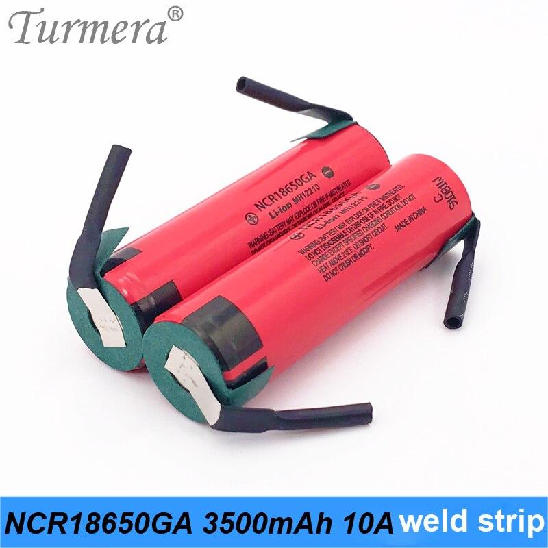 2019 Original 18650 Battery 3500mah NCR18650GA welding 10a 3.6V Battery for Panasoniic flashlight bike battery pack use turmera