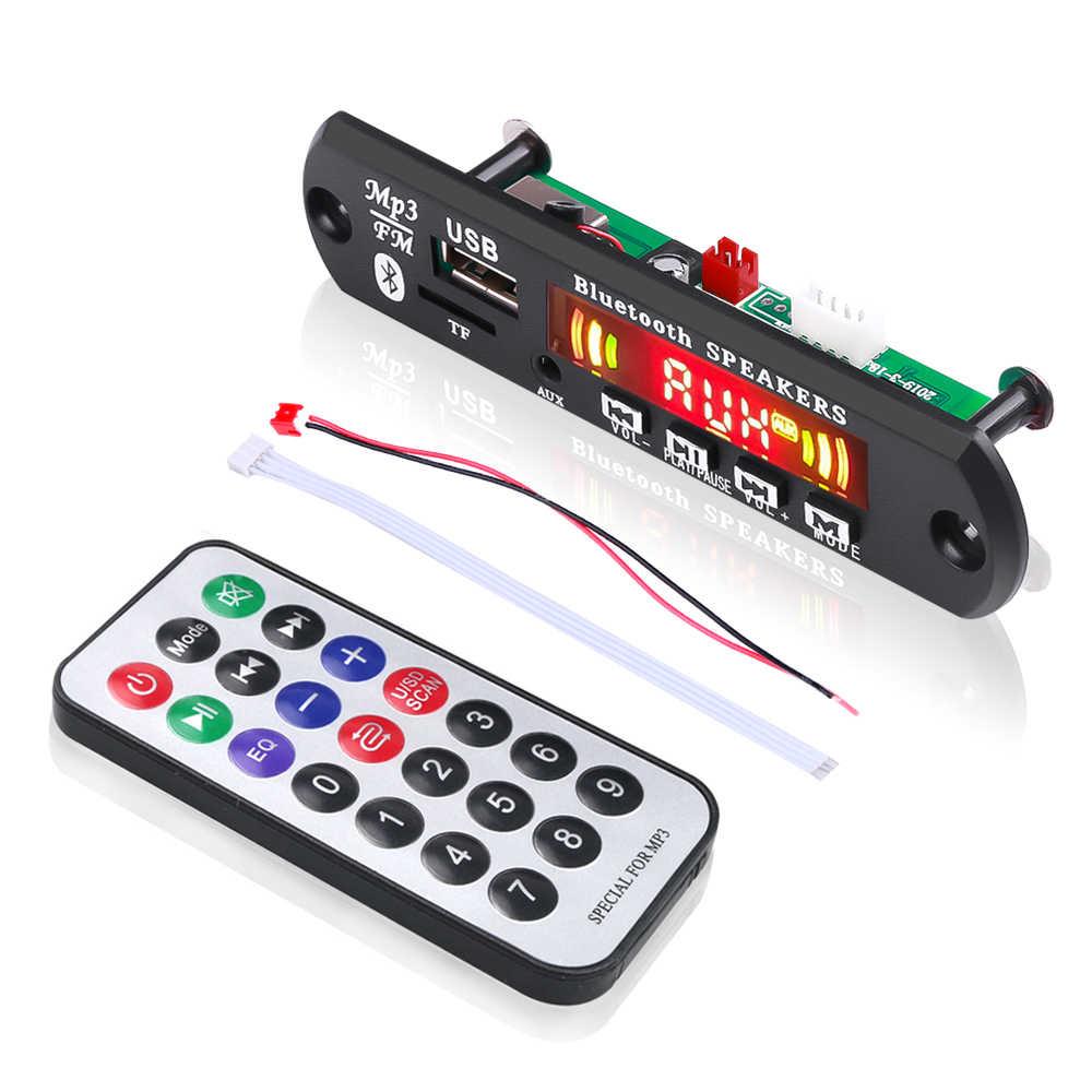 USB AUX manos libres Bluetooth kit de coche inalámbrico de radio FM RECEPTOR de Audio USB 3,5mm TF aux jugador universal 5 v-12 V DC