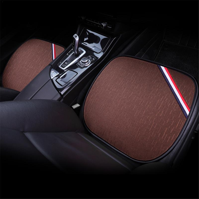 3PCS/Set Breathable Car Seat Cushion Cotton And Linen Small Square Pad Four Seasons Available Car Accessories Car Decoration