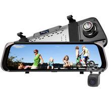 10 pollici Dello Specchio di Rearview DVR di Rilevazione di movimento Video Dell'automobile di Visione Notturna Doppia Lente Della Fotocamera Sprint Telecamera di Retromarcia Visivo HD 1080 P
