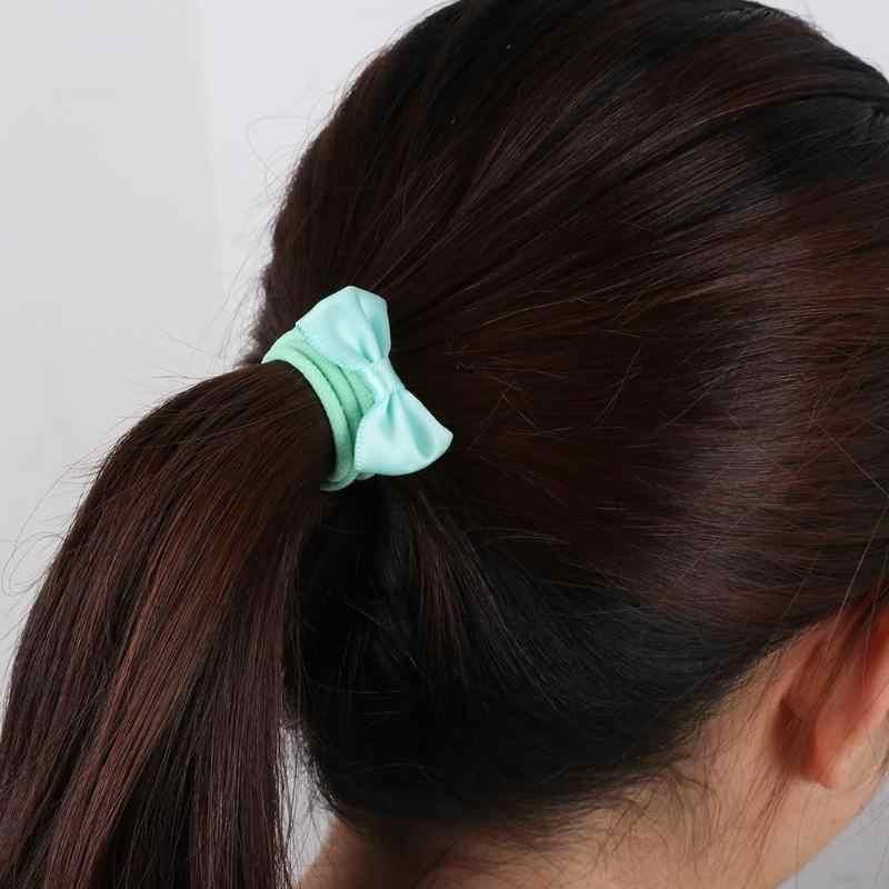 لون الحلوى عقال بووتي الكرتون الأطفال الملونة إكسسوارات الشعر أربطة مرنة طفلة هدية Hairbands للفتيات لطيف