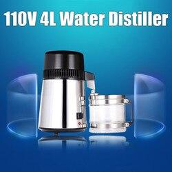 750W 4L 304 carcasa de acero inoxidable capacidad de uso destilador de agua pura purificador contenedor filtro agua destilada dispositivo 110 V/220 V