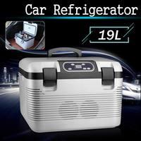 19L Car Refrigerator Freeze heating DC12 24V/AC220V Fridge Compressor for Car Home Picnic Refrigeration heating 5~65 Degrees