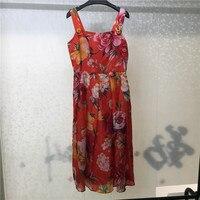 Сексуальное платье с цветочным узором для женщин 2019, высококачественное платье на тонких бретелях, офисные женские модные вечерние платья
