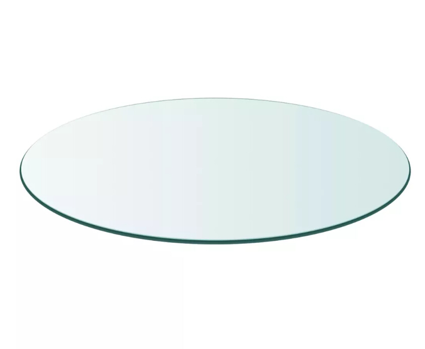 VidaXL Simple Clear Transparent Table Top Tempered Glass Round 500 Mm For Dining Tables Coffee Tables Garden Tables Easy CleanVidaXL Simple Clear Transparent Table Top Tempered Glass Round 500 Mm For Dining Tables Coffee Tables Garden Tables Easy Clean