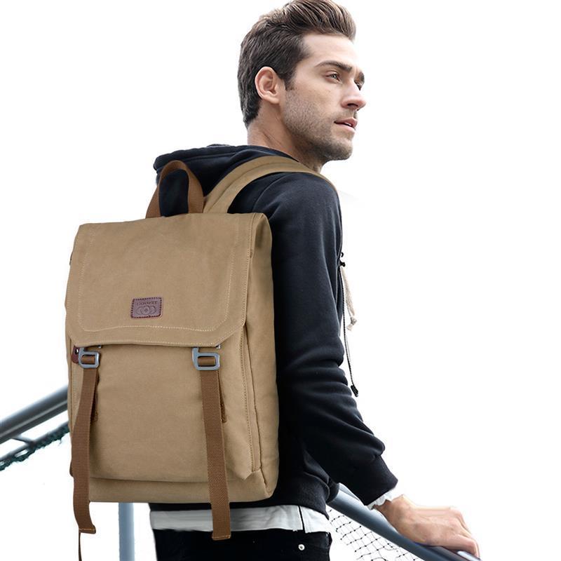 Casual Thread Design Laptop Backpack For Men Male Vintage Canvas School Backpack Bookbag For Girls Student Teens Unisex Daypack