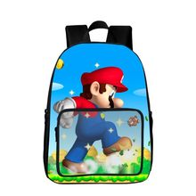 2019 New Style Super Mario Schoolbag Mochila Infantil Mario Backpack for Teenager Boys and Girls Cartoon Book Bag Curel Fancl(China)