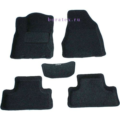 3D carpet BORATEX BRTX-1047 for Nissan X-Trail T31 2007-2015 dark gray цена