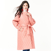 Pink Natural Sheepskin Real Leather Coat Women Genuine Leather Jacket Womens Winter Coats Filler Cotton 2018