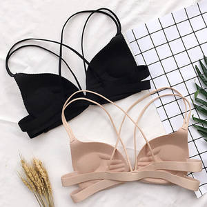 Lingerie Bralette Padded Fashion Bra Front-Closure Wire-Free Back-Beautify Push-Up Sexy