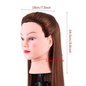 Image 3 - 24 אינץ סינטטי אימון Mannequin ראש שיער בובות ראש לקוסמטיקה קולעת Dummy Mannequin ראשי שולחן מהדק Stand