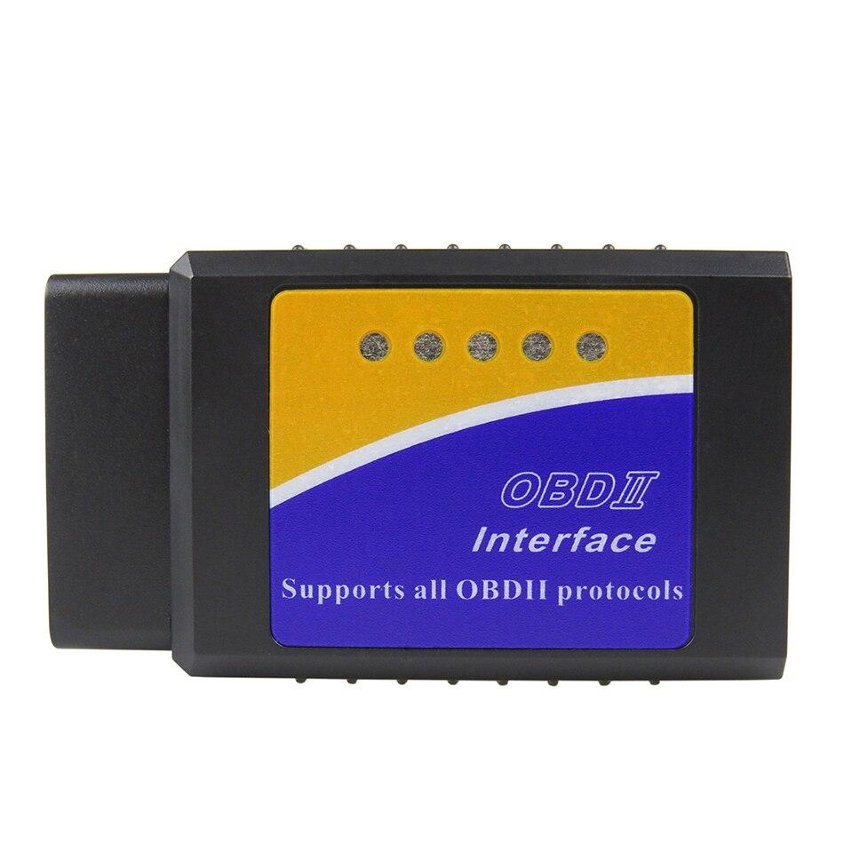 Real PIC18F25K80 Chip ELM327 Bluetooth V1.5 OBD2 coche herramienta de diagnóstico Super Mini ELM 327 v 1,5 OBD 2 escáner para android/Symbian
