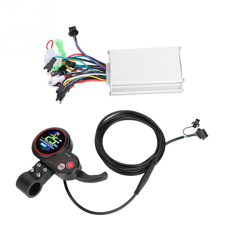24V 36V 48V 60V Electric Bicycle Bike Scooter Controller LCD Display Control Panel with Shift Switch