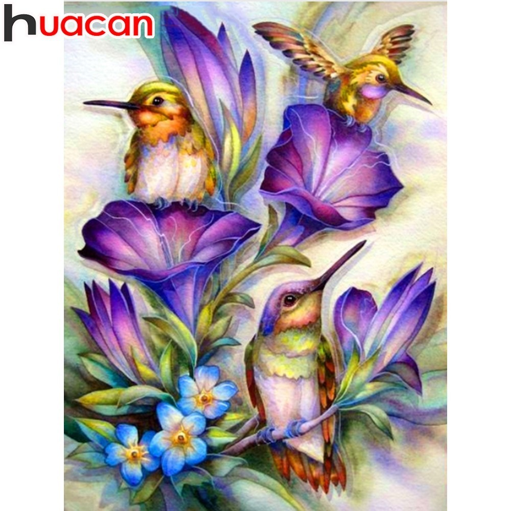 HUACAN Diamond Painting Full Square Flower Diamond Embroidery Animal Bird Home Decoration DIY Mosaic Picture Of Rhinestone HUACAN Diamond Painting Full Square Flower Diamond Embroidery Animal Bird Home Decoration DIY Mosaic Picture Of Rhinestone