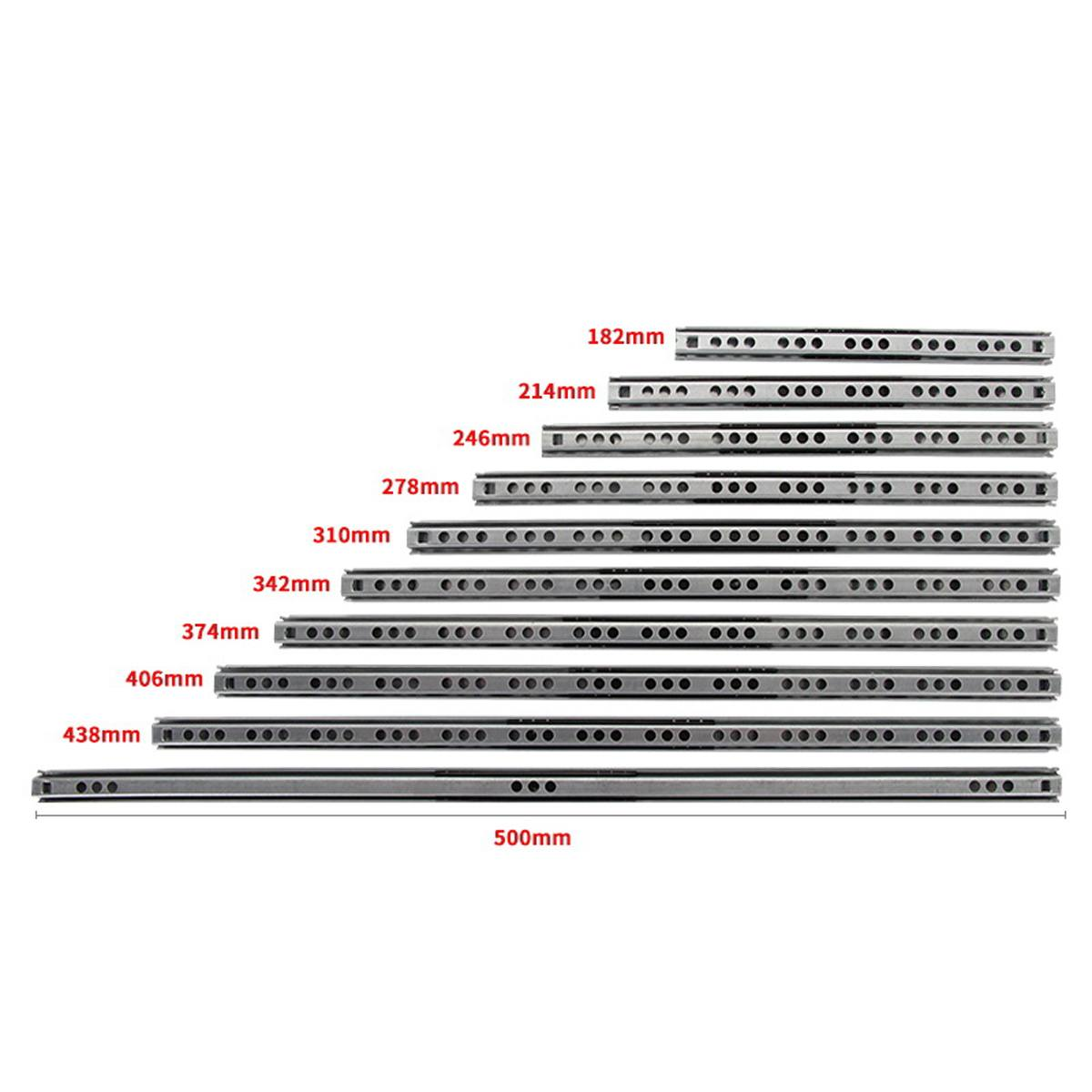 """2 шт """"-16"""" 17 мм шарикоподшипник направляющие для выдвижных ящиков мебель направляющие стальные шарикоподшипники направляющие клавиатура шкаф для шкафа выдвижные ящики Бегуны"""