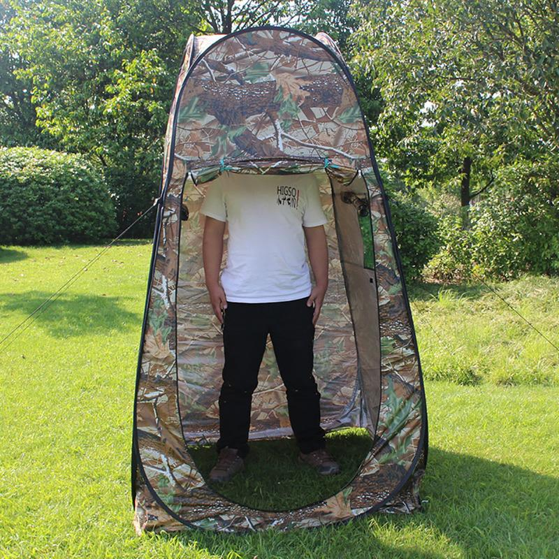 Automatique Pop Up bain tente Camouflage Camping douche salle de bain intimité toilette Dressing abri simple mobile tentes pliantes
