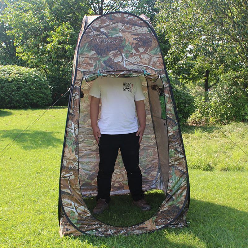 Automatische Pop Up Bad Camouflage Zelt Camping Dusche Bad Privatsphäre Wc Dressing Zimmer Shelter Einzigen Moving Folding Zelte