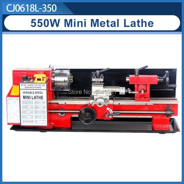 550W Mini high Präzision DIY Shop Tisch Metall Drehmaschine Werkzeug Maschine Variabler Geschwindigkeit Fräsen 100mm chuck 350mm arbeits länge
