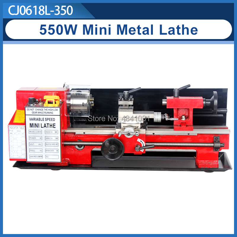 550W Mini high Precision DIY Shop Benchtop Metal Lathe Tool Machine Variable Speed Milling 100mm chuck 350mm working lengthLathe   -