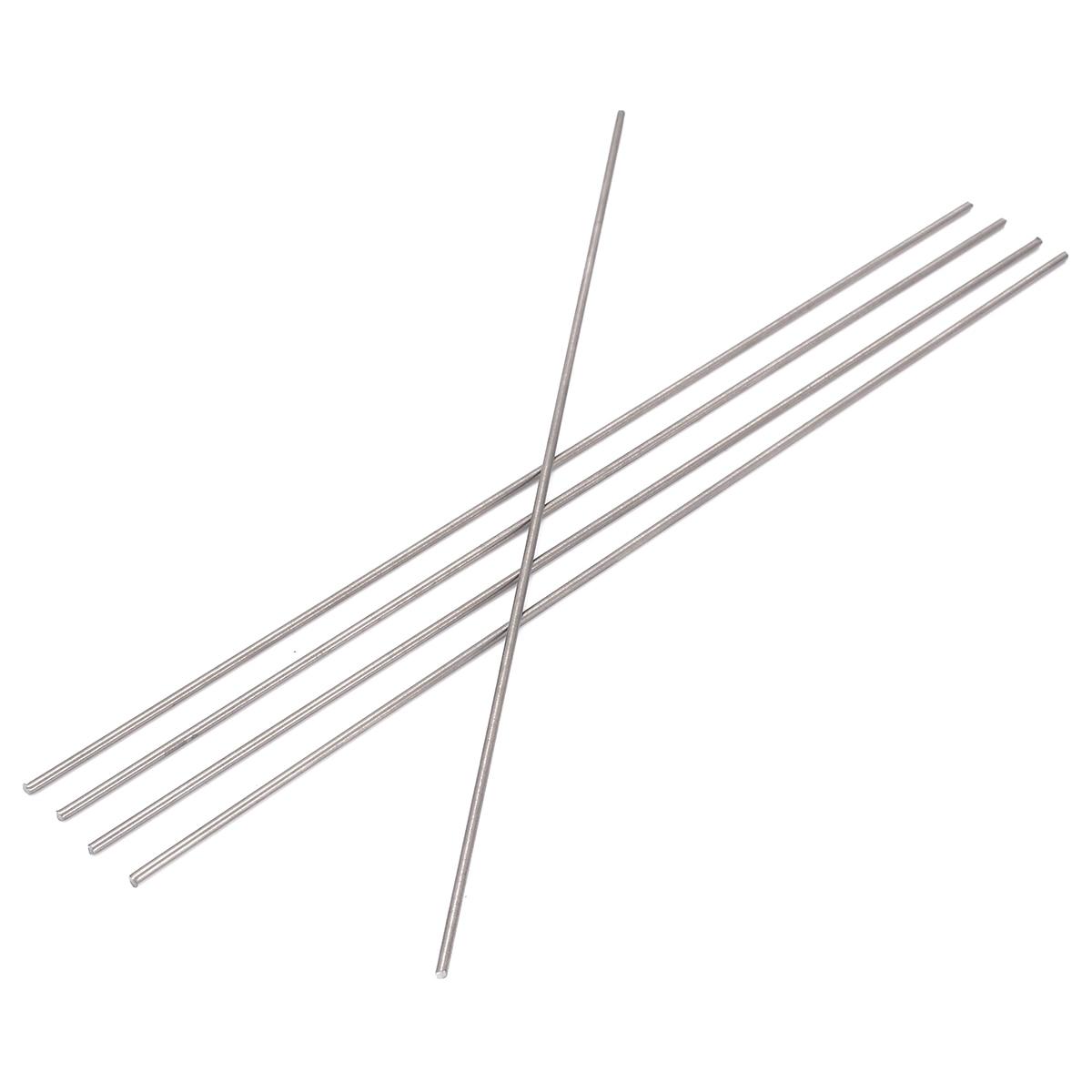 5pcs Round Ti Bar Grade 5 Metal Rods 2*250mm Titanium Sticks For Manufacturing Gas Turbine Components
