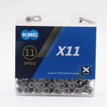 Цепь для горного велосипеда KMC X11.93, 11, 22, 33 скорости, оригинальная цепь X11 MTB для дорожного велосипеда, 118L цепи