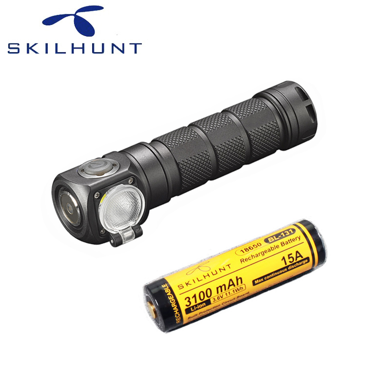 Skilhunt H03F RC LED Lampe Frontale CREE XML-2 U4 LED 1200Lm phare chasse pêche y compris batterie